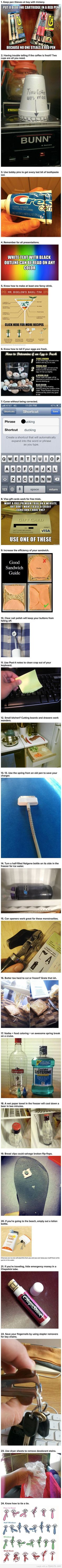 """Dont usually pin these anymore nut these are Actually useful """"Life Hacks"""" -"""