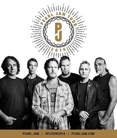 Tour 2016 tickets are on sale now! More info at PearlJam.com #PJTour2016 #PearlJam