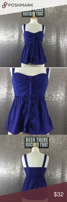 Odille anthropologie bustier babydoll top Excellent condition Anthropologie Tops Tank Tops