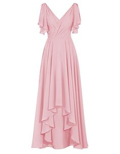 Diyouth Long V-Neck Pleated Formal Bridesmaid Dresses Backless with Sleeve Blush Size 20W Diyouth http://www.amazon.com/dp/B00XU3GR88/ref=cm_sw_r_pi_dp_AyFzvb0ND0TKE
