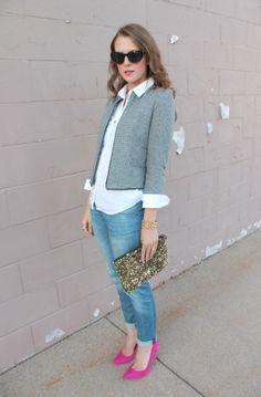 Penny Pincher Fashion: Denim + Tweed