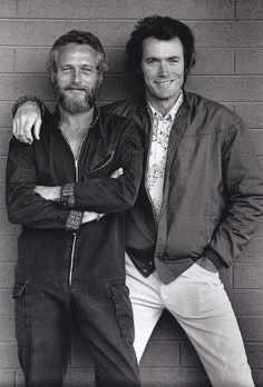Paul Newman and Clint Eastwood, 1972