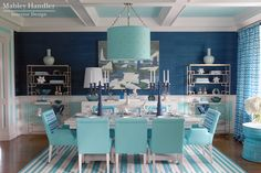 drum light. Mabley Handler Interior Design - Beach House Dining Room at the 2012 Hampton Designer Showhouse