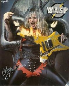 Chris Holmes  - W.A.S.P. Heavy Metal Rock, Heavy Metal Bands, Twisted Metal, Ac Dc Rock, 80s Rock, Happy Birthday Chris, 80s Hair Metal, Rock Band Posters, 80s Hair Bands