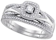 1-3CTW-Diamond 1-10CT-CRD Bridal Set