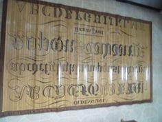 Alphabet Bamboo Rug or Tattoo Bamboo Mat Bamboo Rug, Floors, Alphabet, Rugs, Tattoos, Ebay, Decor, Home Tiles, Farmhouse Rugs