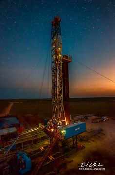 Bob Callender Fine Art offers Artistic and Corporate Oilfield Photography, Drone Photography, Custom Framing, and Rig Images like The Stars at Night.