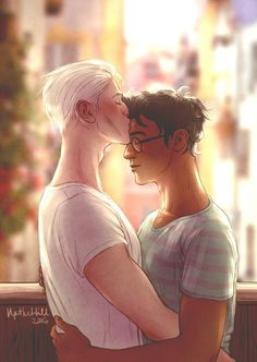 "upthehillart: "" tol and smol "" #drarry"
