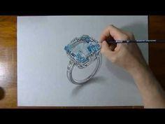 How I draw an aquamarine ring