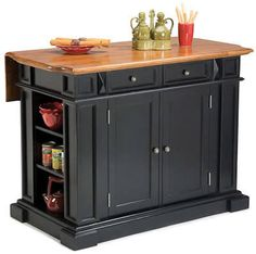A drop-leaf kitchen island. Handy for when you need just a little more counter space.