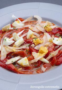 Zorongollo extremeño Yummy Veggie, Vegetable Recipes, Vegetarian Recipes, Yummy Food, Healthy Recipes, Tapas, Real Food Recipes, Cooking Recipes, Saveur