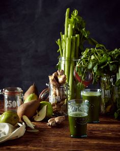 Green Juice Recipe. Watercress celery pear and Ginger