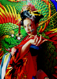 Find the latest shows, biography, and artworks for sale by Mika Ninagawa. Mika Ninagawa is a contemporary Japanese photographer with a distinctive style, ch… Japanese Film, Japanese Kimono, Japanese Style, Japanese Drama, Die Geisha, Tokyo Ville, Mika, Japanese Culture, Great Movies