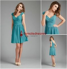 7a6c7f951d 35 Ideas for dress bridesmaid teal cap sleeves Cortejo