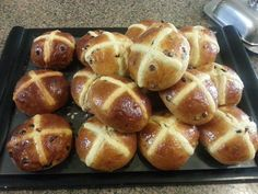 One a penny, two a penny Hot cross buns :) They make me so happy year round for breakfast, lunch or dinner