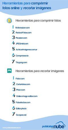 14 Herramientas TIC para Comprimir y Recortar Imágenes | #Infografía #Edtech
