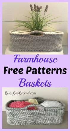 Farmhouse style decor crochet basket free pattern super versatile but perfect for hard to decorate bathroom unique teacher gift great holiday christmas gift freecrochetpattern freecrochetpatterns crochetbasket crochetideas crochetgift coolcroch Crochet Diy, Crochet Simple, Crochet Storage, Crochet Ideas, Crochet Home Decor, Crochet Crafts, Scrap Crochet, Learn Crochet, Crochet Decoration