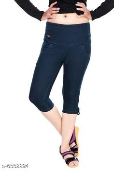 Capris Stylish Women Stretchable Denim Capries  Fabric: Stretchable Denim Pattern: Solid Multipack: 1 Sizes: 34 (Waist Size: 34 in Length Size: Up to 27 in) 36 (Waist Size: 36 in Length Size: Up to 27 in) 38 (Waist Size: 38 in Length Size: Up to 27 in) 28 (Waist Size: 28 in Length Size:Up to 27 in) 40 (Waist Size: 40 in Length Size:Up to 27 in) 30 (Waist Size: 30 in Length Size: Up to 27 in) 32 (Waist Size: 32 in Length Size: Up to 27 in) Country of Origin: India Sizes Available: 28, 30, 32, 34, 36, 38, 40   Catalog Rating: ★4.2 (395)  Catalog Name: Free Mask Classy Sensational Women Capris CatalogID_1043823 C79-SC1037 Code: 594-6552224-2031