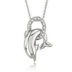 pretty #dolphin #necklace
