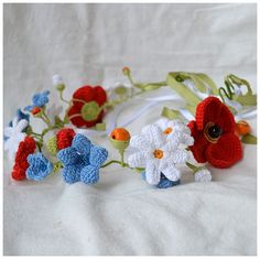 ooak statement floral crownversatile accessory от Marmotescu