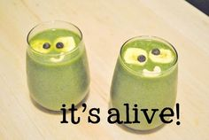 """This kooky Halloween smoothie is a treat for """"kids"""" of all ages, no tricks - it really tastes delicious!"""