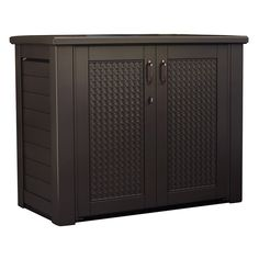 Rubbermaid 56 Gal. Chic Basket Weave Patio Storage Cube Deck Box ...
