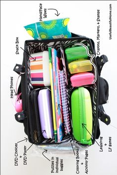 How to pack a bag for the road trip. More