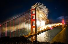 of July is hours away! Find 4 top hidden spots to view the of July fireworks in San Francisco. See 9 other great places to celebrate across the U. Ponte Golden Gate, Golden Gate Bridge, San Fransisco, The Places Youll Go, Places To Go, Fire Works, 4th Of July Fireworks, July 4th, Birthday Fireworks