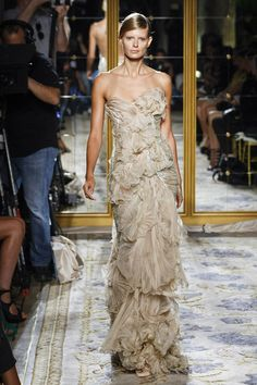 MARCHESA Spring 2012 Nude Tulle Gown