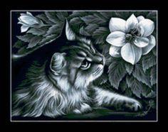 """Schéma broderie """"Cat I. Garmashevoy"""" - Plans auteur «WolfBride» - Point de Croix"""