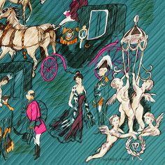 HERMES SCARF Silk PLEATED Soiree de Gala by Jean-Louis by EXANYC