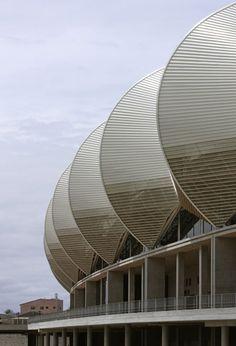 Nelson Mandela Bay Stadium by GMP Architekten - Port Elizabeth. South Africa