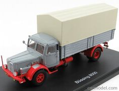 SCHUCO 03041 Scale 1/43  BUSSING 8000 TRUCK GREY RED