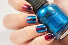 31 Day Challenge 2014: Day 10, Gradient nails #kiko 397 Kiko 394 Orly Sweet Peacock #nailvinyls #31DC2014