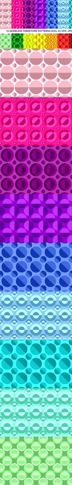 16 Seamless ThreeTone Circle Patterns #BackgroundSet #CircleDesign #circles #seamless #threetonepattern #threetonepatterns #seamlesspattern #CheapVectorBackgrounds #circle,dotpatterns #pattern #seamlesspattern #BackgroundGraphics #AbstractBackground #zydd #seamlesspatterns #repeat #BackgroundCollection #geometry #monochromepatterns