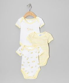 Be prepared for stress-free changing by stocking up on these darling baby basics. Thanks to a lap neck and bottom snaps, switching out after spills will be easy breezy!