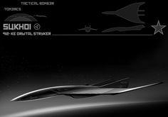 Stealth fighter bomber. GHOSTCOM's go to orbital support bomber.
