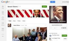 #5 President Obama —— the first sitting president to engage citizens via a Google+  Nearly all of the material shared on the president's profile is either a video or an image of some kind, shared to more than one million followers.