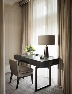 Classic elegance at Kimpton Fitzroy, London Classic Elegance, Hospitality, Wall Lights, Dining Table, Shelves, London, Elegant, Furniture, Home Decor