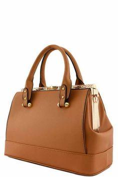 Solid Color Clutch Lock Designer Doctor Bag