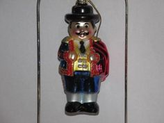 Spanish BULLFIGHTER Glass Christmas Ornament by Cost Plus World Market, SPAIN