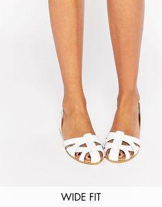 Image 1 ofASOS JUGGLER Wide Fit Leather Summer Shoes