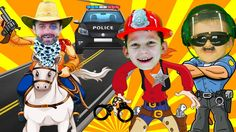 Little heroes Kid cops to the rescue firefighters for kids . Police car ...