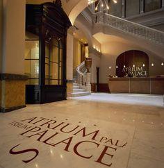 Recepción Hotel Atrium Palace Barcelona.