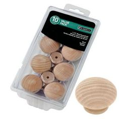 Liberty 1-1/2 in. Birch Wood Round Cabinet Knob (10-Pack) P10513C-BIR-U1 at The Home Depot - Mobile