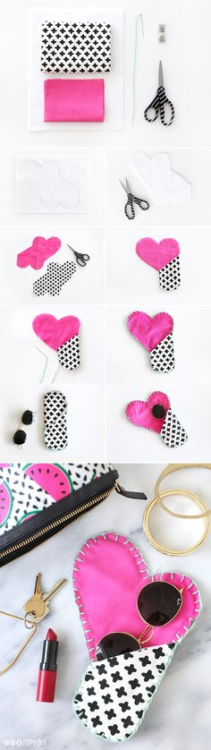 » MY DIY | Cotton Canvas Heart Sunglasses Case