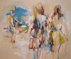 """""""(Un-) related"""", Acryl auf Leinwand, 180 x 145 cm"""
