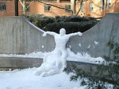 And again I say... REALLY???? Of all the things to imortalize in snow you landed on the blowie??