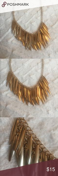 Gold statement necklace Gold Statement Necklace. In great condition. Jewelry Necklaces