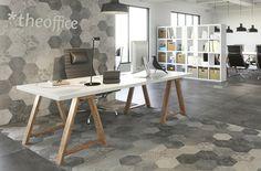 Tile - ATLAS collection /by ARGENTA 콘크리트 느낌의 육각형 타일로 내추럴한 타일위에 플라워 무늬가 더해져 더욱 매력이 넘치는 타일입니다 ♥   #tile #tiles #Sangahtile #interior #space #design #concrete #hexagon #wall #floor #living #style #타일 #상아타엘 #헥사곤 #육각형타일 #리빙 #룸 #홈 #인테리어 #공간 #추천 #벽 #바닥